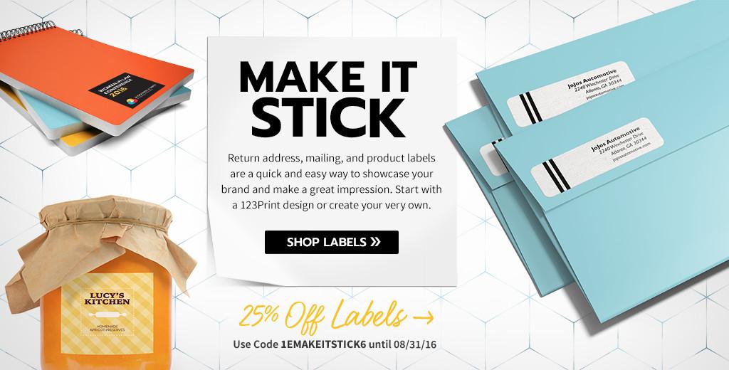 Make It Stick Labels Sale 20% Off
