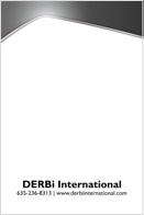 An angular black and white letterhead design with a company name and logo at the bottom.