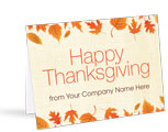 Front Imprint Thanksgiving Cards