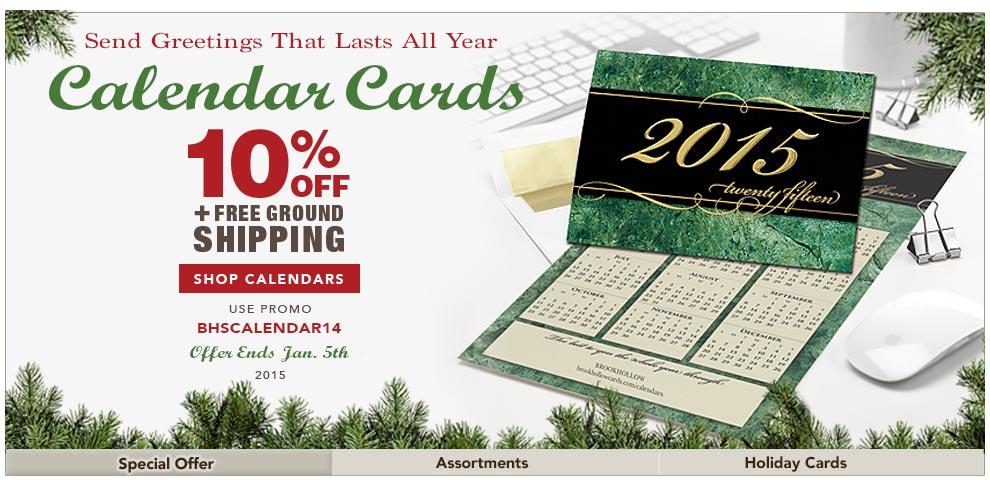 CALENDAR CARD SALE