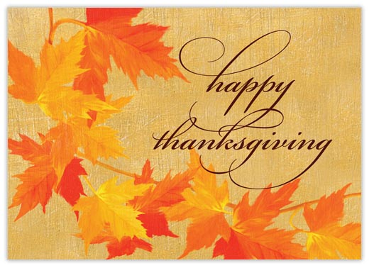 Vine of Leaves - Thanksgiving Cards from CardsDirect