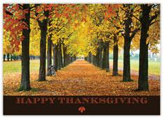 Autumn Path Thanksgiving Card