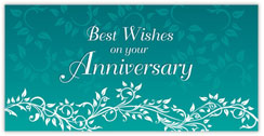 Decorated Vines Anniversary Card