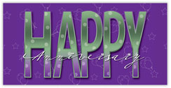 Purple Anniversary Card