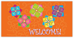 Vibrant Decorative Welcome Card