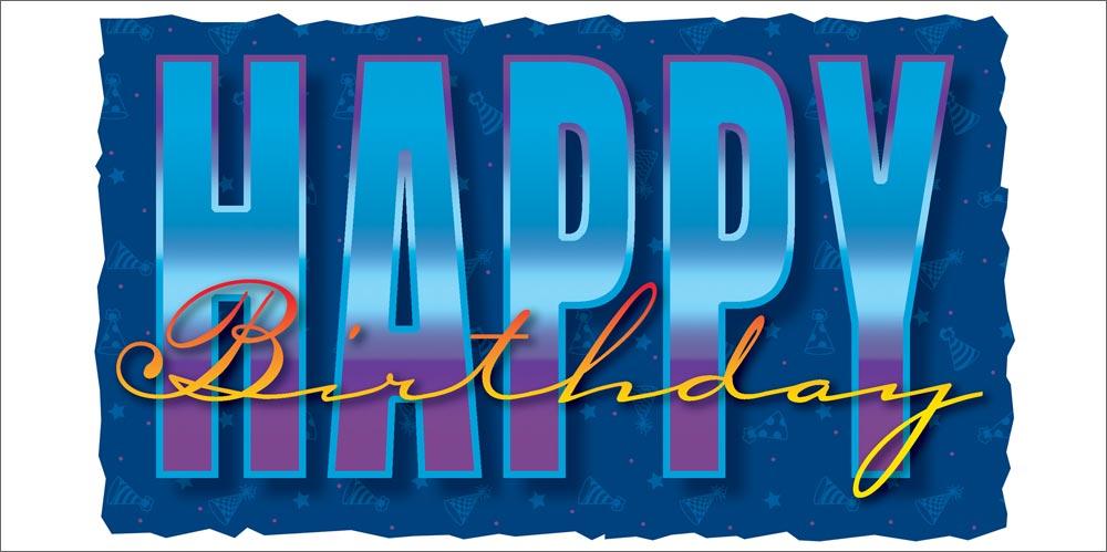 Happy Birthday Retro Style Slick Retro Happy Birthday