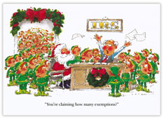 Santa and Elves Accountant Card