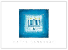 Dashing Blue Menorah