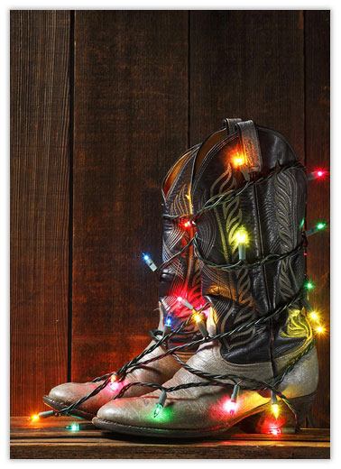 Christmas Cowboy Boots - Western from CardsDirect