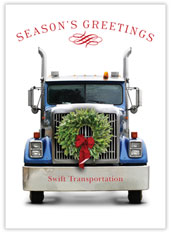 Holiday Wreath on Truck Card