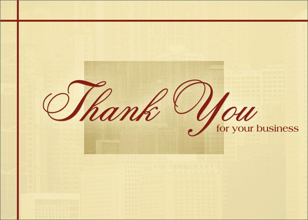 Burgundy and Cream Thank You Business Appreciation Cards
