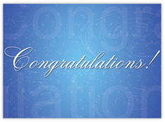 Blue Congratulations Card