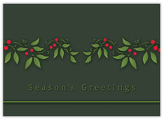 Garland of Holly Christmas Card