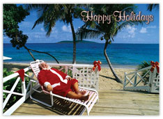 Santa's Relaxing Christmas Card