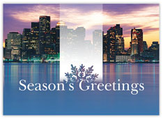 Boston Skyline Holiday Card