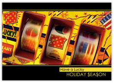 Lucky Slots Holiday Card