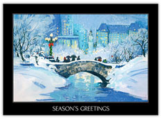 Winter Bridge Holiday Card