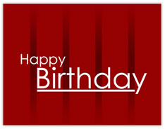 Deep Red Birthday Value