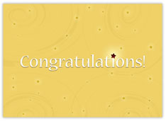 Yellow Congratulations Card