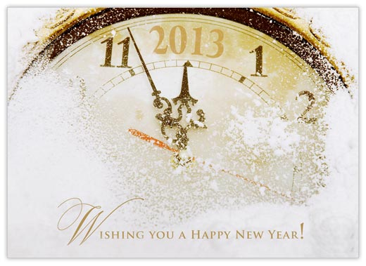 New Year Clock Face - New Years from CardsDirect