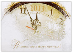 New Year Clock Face