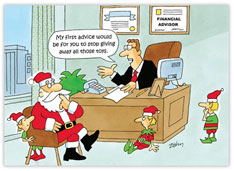 Santa's Financial Advisor Holiday Card