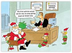 Santa's Financial Advisor Holiday Card