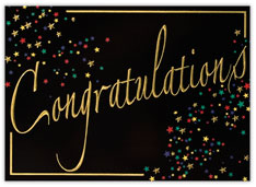 Starburst Congratulations Card