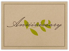 Natural Leaf Stem Anniversary Card