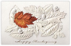 Fallen Leaves Thanksgiving Card