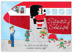 Santa's Sleigh Aviation Holiday Card