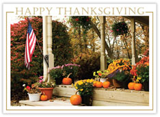 Thanksgiving Patriotic Porch