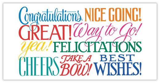 Say Congratulations Card - Congratulations Cards from CardsDirect