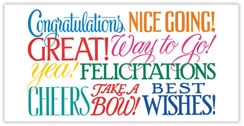 Say Congratulations Card