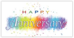 Anniversary Rainbow Card