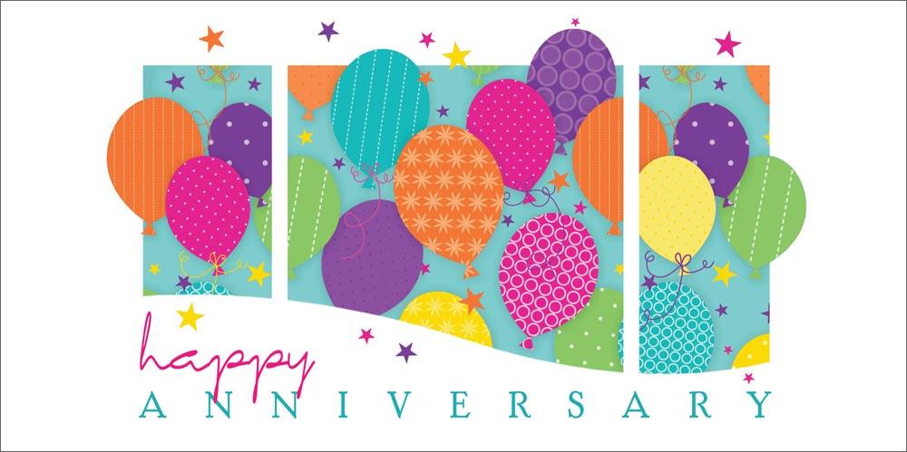 Balloons Anniversary  1 Year Work Anniversary Congratulations