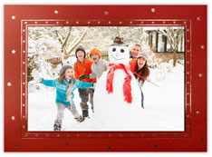 Horizontal Red Photo Holder