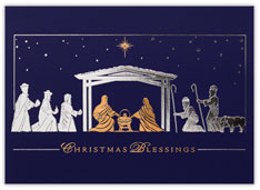 Gold and Silver Nativity Scene