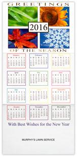 Seasonal Symbols Calendar Card