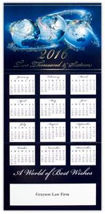 Globe Trio Calendar Card