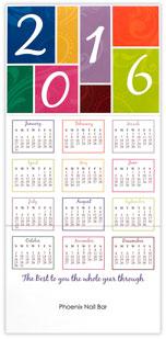 Color Block Year Calendar Card