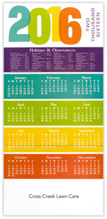 Colorful Year Calendar Cards