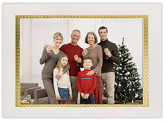 Gold Frame Holiday Photo Holder