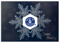 Blue and Silver Snowflake
