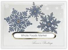 Blue and Silver Snowflakes Die Cut