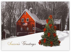 Red Farmhouse Christmas