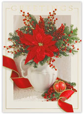 Poinsettia and Berries