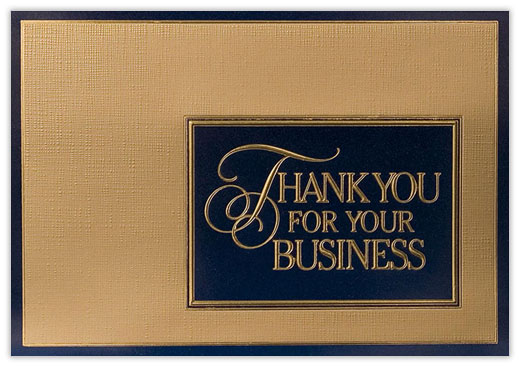 Thanks For Your Business - Thank You Cards from CardsDirect