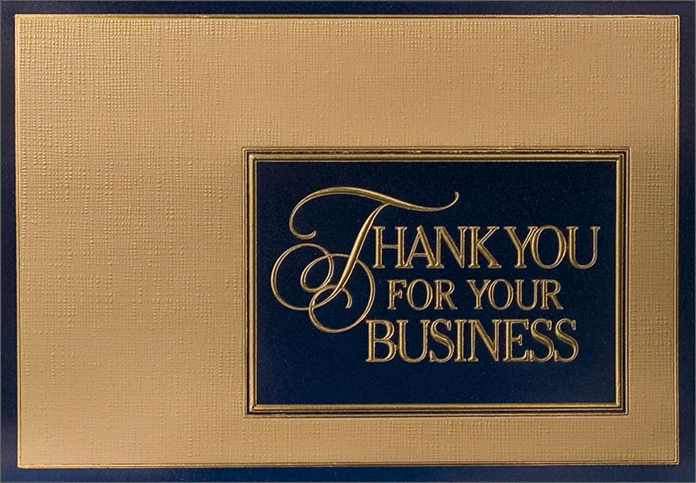 Thank you cards business corporate thank you cards for Thank you business card