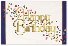 Confetti Cheer Birthday Card